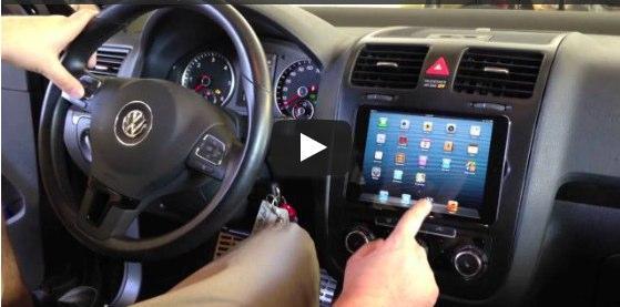 IPad miniをフォルクスワーゲン ジェッタのダッシュボードに埋め込み  apptoi | apptoi