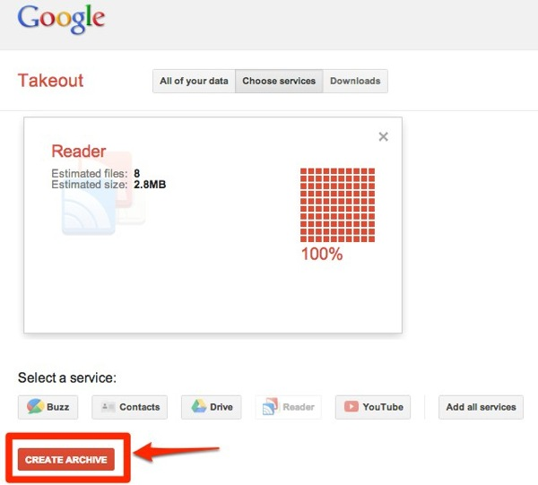 Google Takeout 1