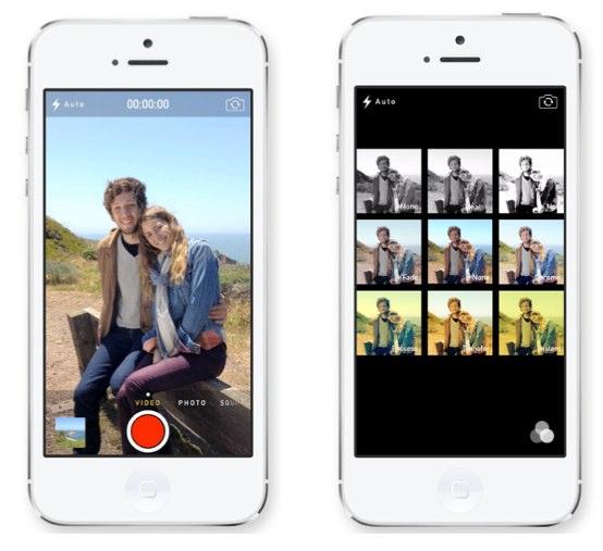 IOS 7 カメラで正方形の写真やその場でフィルターがつけられるようになります  たのしいiPhone AppBank