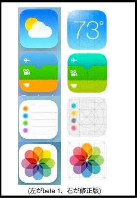 米Apple デザインを一部修正した iOS 7 の標準アプリの新しいアイコン画像を誤って一時公開