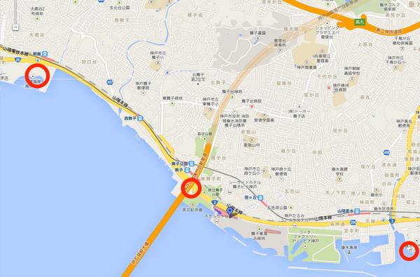 アジュール舞子  Google マップ