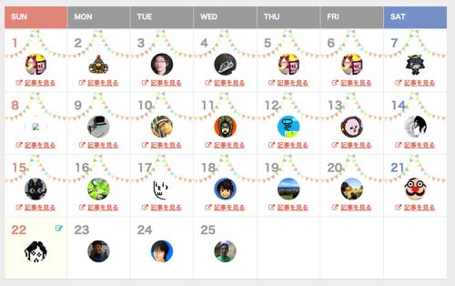 Blog  blogadvent Advent Calendar 2013  Adventar 2