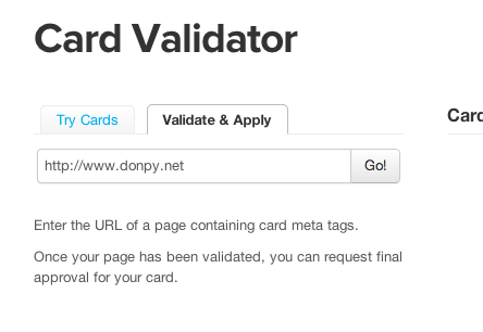 Card Validator | Twitter Developers 2