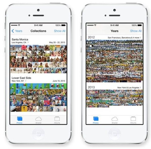 IOS 7 新しい写真アプリはより写真を探しやすく 見やすくなった サムネイル表示は便利っぽい  たのしいiPhone AppBank