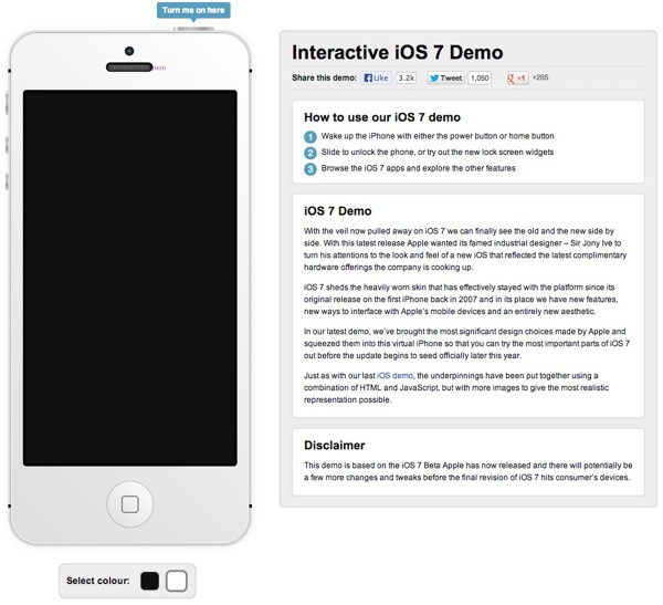 Interactive iOS 7 Demo Simulator | Recombu Mobile