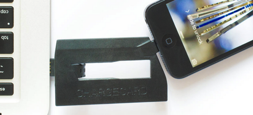 CHARGECARD | iPhone Lightning Cable Credit Card Sized 1