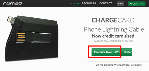 CHARGECARD | iPhone Lightning Cable Credit Card Sized 2