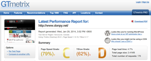 Latest Performance Report for http www donpy net | GTmetrix