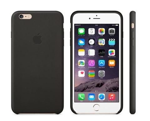 IPhone 6 Plusレザーケース  ブラック  Apple Store  Japan