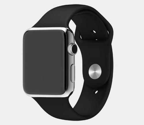 Apple  Apple Watch  ステンレススチールケースとブラックスポーツバンド